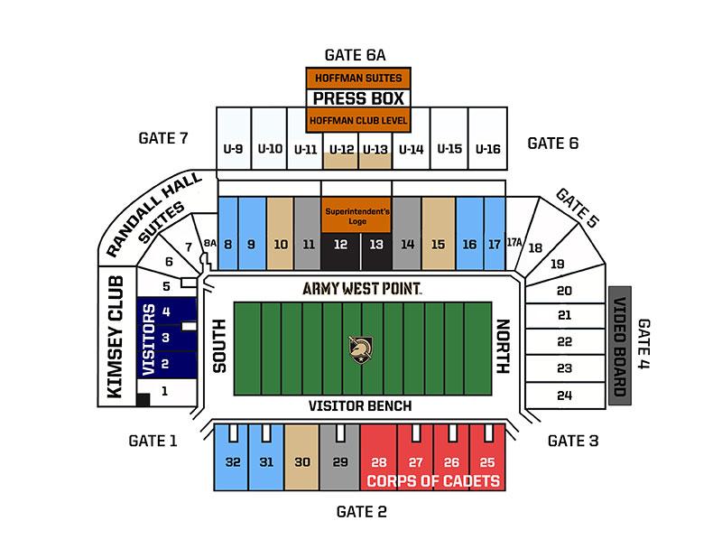 Michie Stadium Single Football